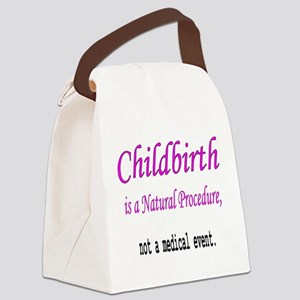 Childbirth Natrual Procudure Canvas Lunch Bag